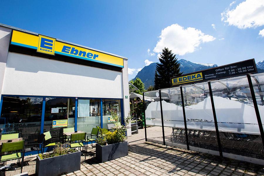 Außenaufnahme des EDEKAs in Oberstdorf