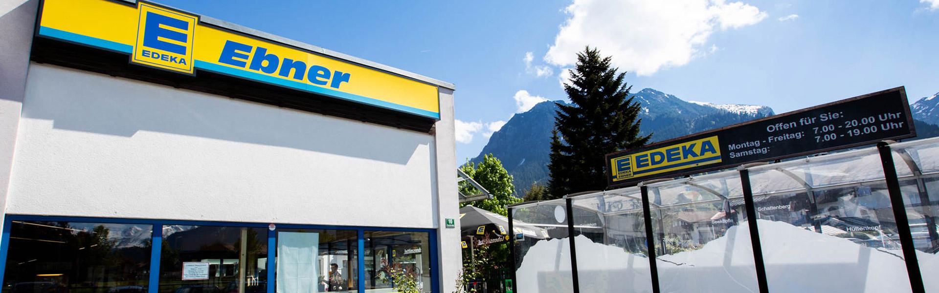 EDEKA Ebner Standort Oberstdorf Außenaufnahme